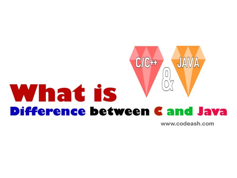 Difference between C and Java