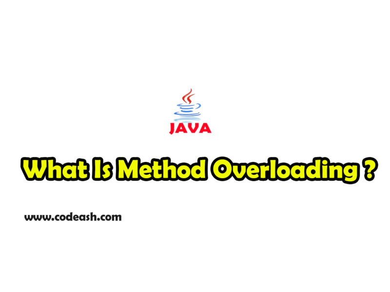 What is method overloading in java