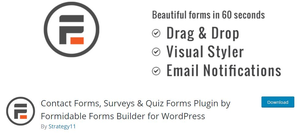 Formidable Form plugin