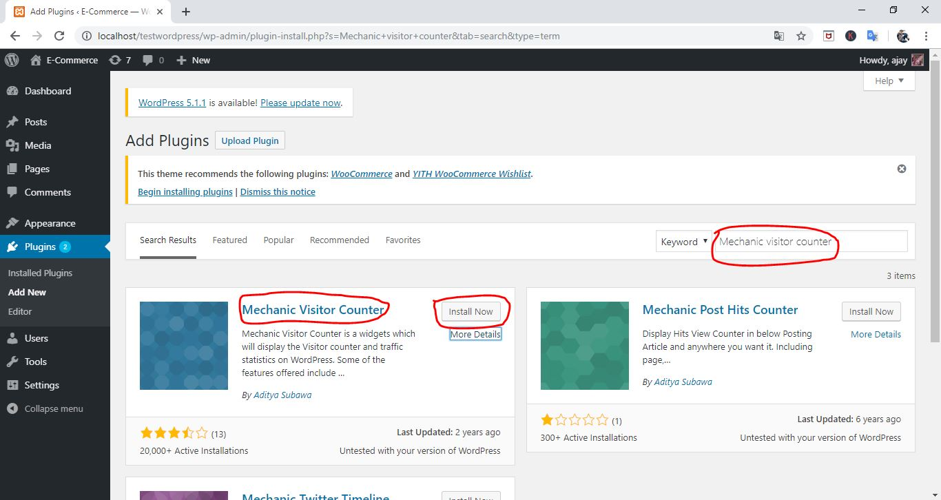 how to add visitor counter on wordpress website