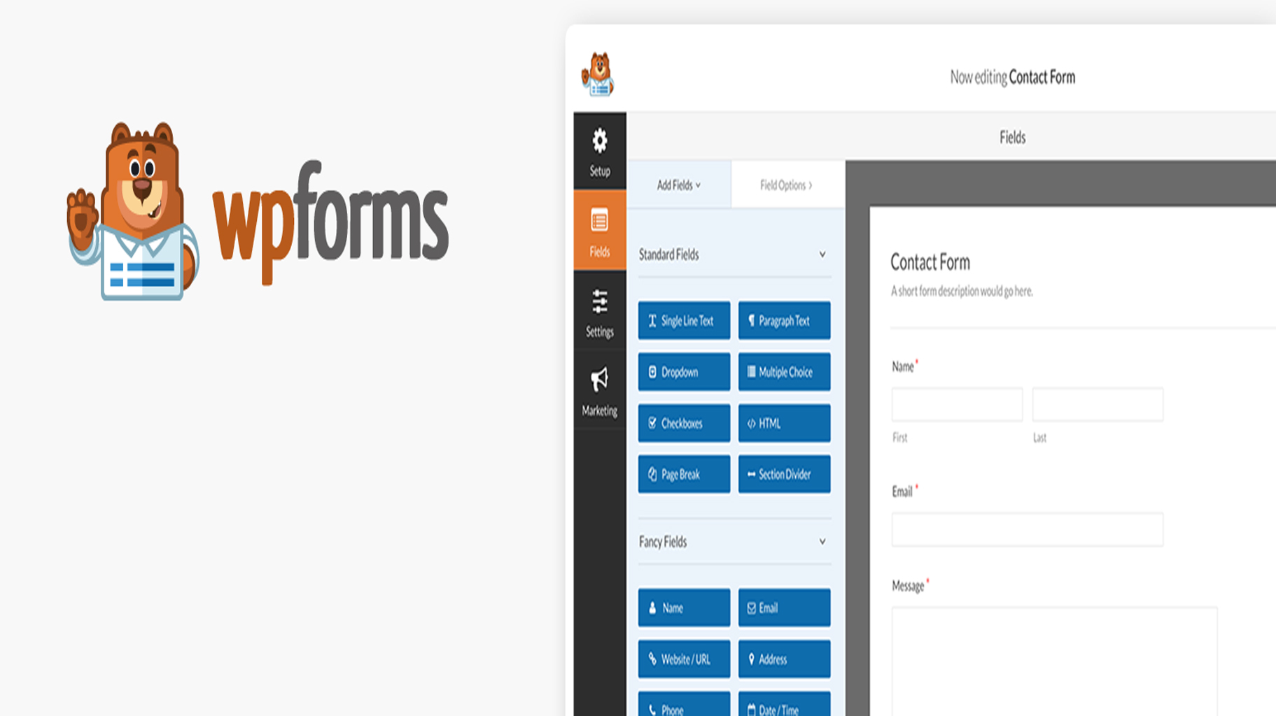 WPform contact form Plugin