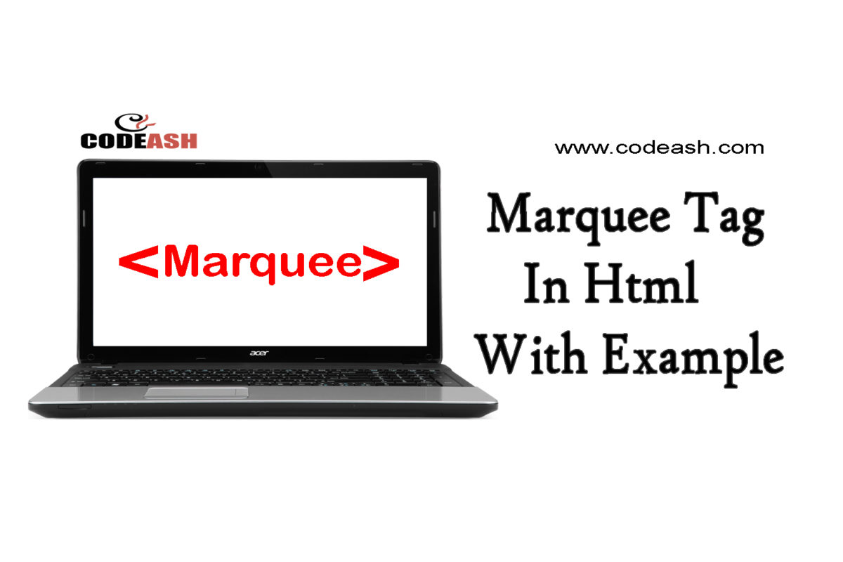 Marquee tag in html with example