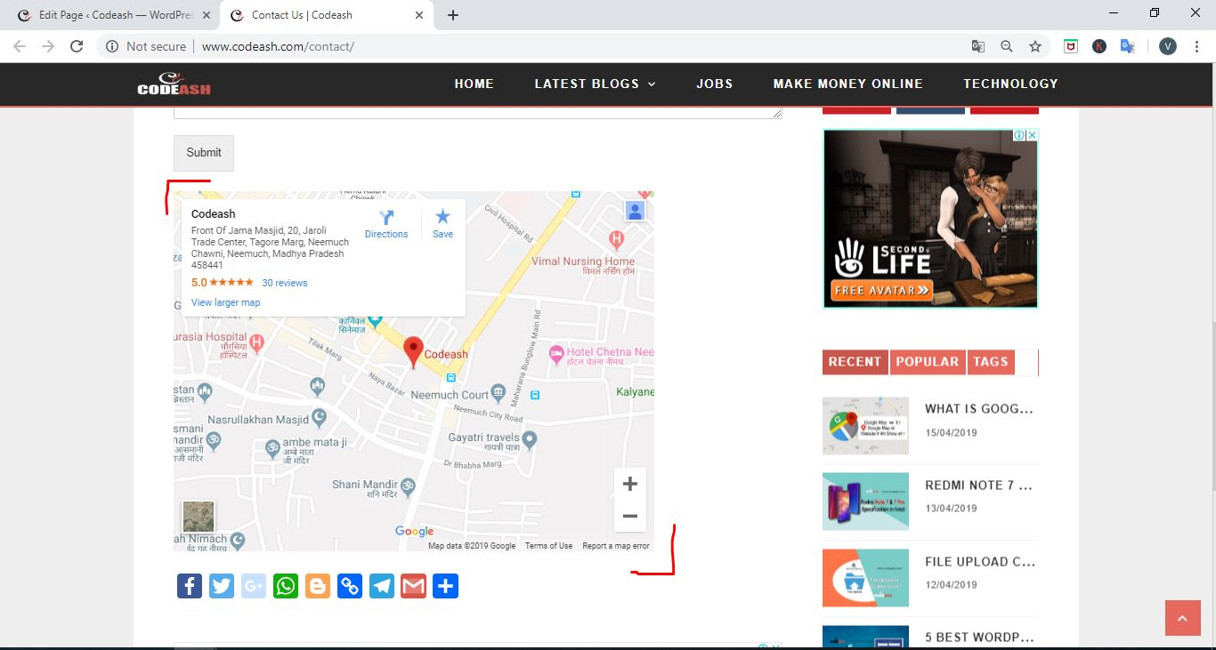 wordpress me google map kese add kare