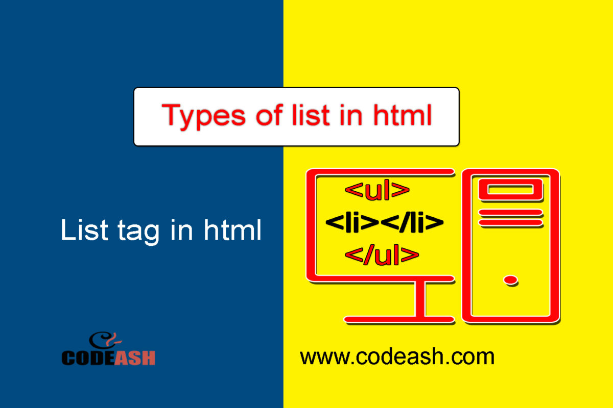 List Tag in Html