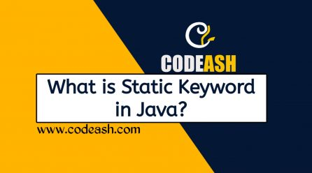 What is Static Keyword in Java
