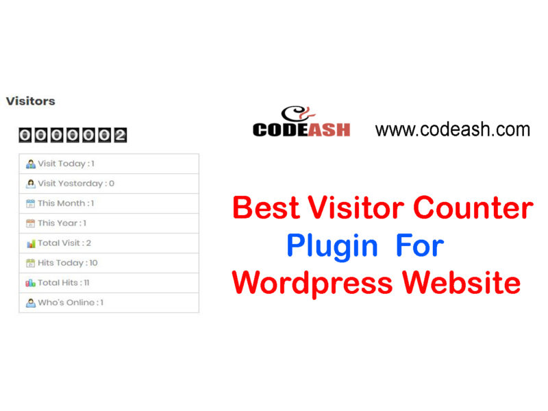 How to add page visitor counter plugin wordpress