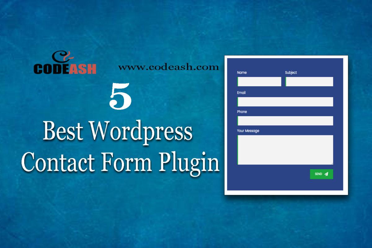 5 Best WordPress Contact Form Plugin